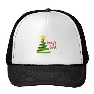 BABYS FIRST CHRISTMAS TRUCKER HAT