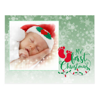 Baby's First Christmas Card Postcard
