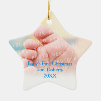 Baby's First Christmas Ceramic Star Decoration