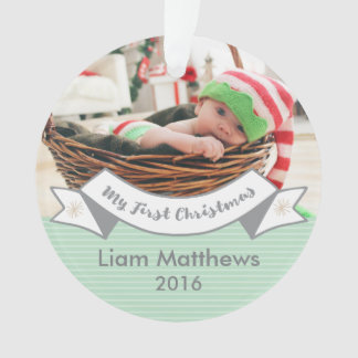 Baby's First Christmas, Custom Photo Ornament