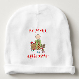 Baby's First Christmas - customizable - Baby Beanie