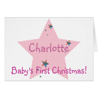 Baby's First Christmas!-Customize Greeting Card
