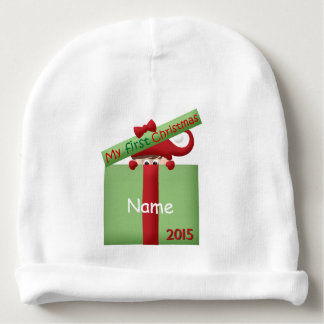 """Baby's First Christmas Elf"" BABY HAT Baby Beanie"