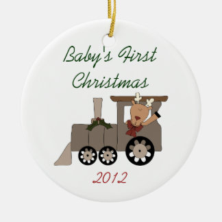 Baby's First Christmas Holiday Train Ornament