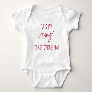 Baby's First Christmas | Modern 1st Christmas Baby Bodysuit