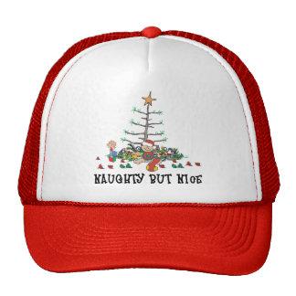 Baby's First Christmas Naughty But Nice Mesh Hats