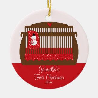 Baby's First Christmas Ornament Christmas Crib