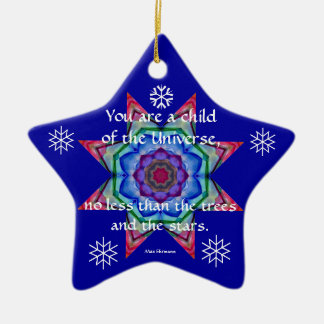 Baby's First Christmas Ornament.Desiderata.Quote.4 Ceramic Star Decoration