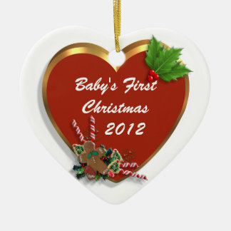 Baby's first Christmas ornament heart