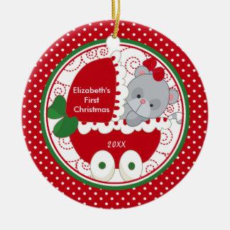 Baby's First Christmas Ornament Precious Kitty