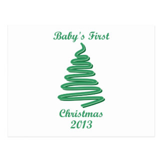Baby's First Christmas Ornaments and Gifts Postcard