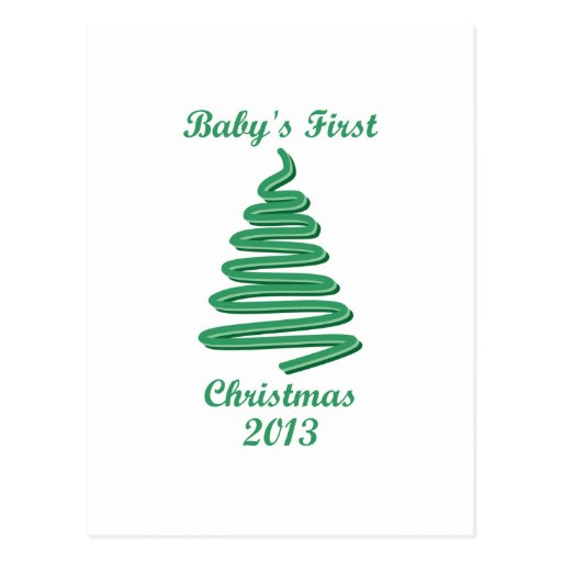 Baby's First Christmas Ornaments and Gifts Post Card