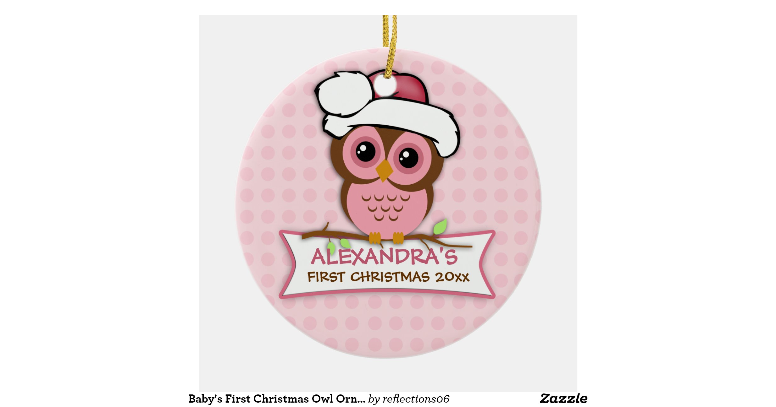 Baby 39 s first christmas owl ornament zazzle for Babys first christmas decoration