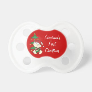 Baby's First Christmas/ Personalise Baby Name Dummy