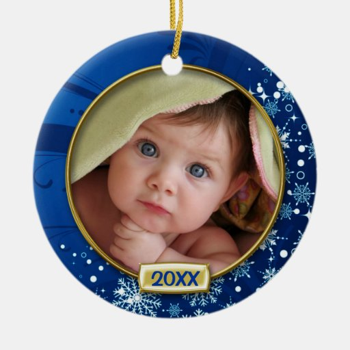 Baby's First Christmas Photo Frame Christmas Ornaments