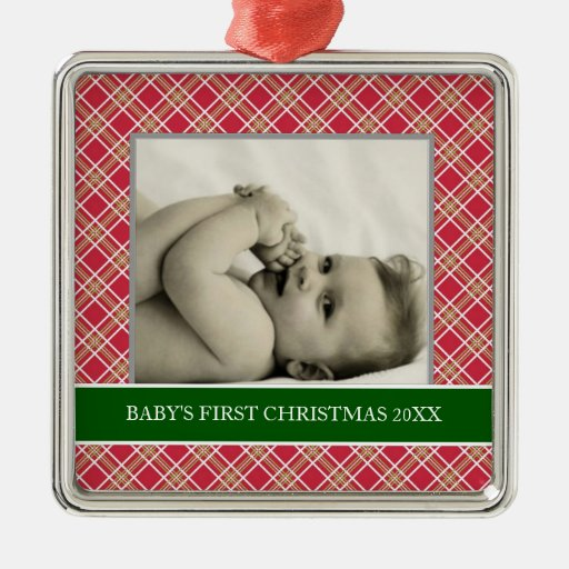 Baby's First Christmas Photo Holiday Ornaments
