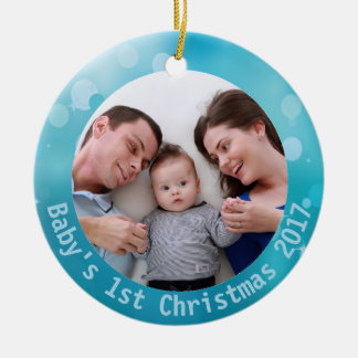 Baby's First Christmas Photo Ornament 2025