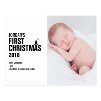 Baby's First Christmas Photo Postcard
