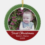 Baby's First Christmas Photo - Single Sided Ornament