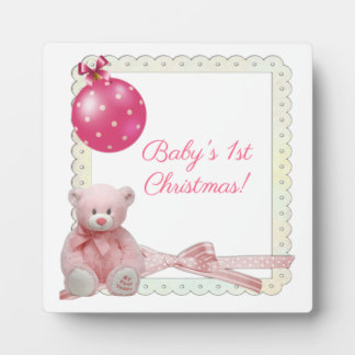 Baby's First Christmas Plaque