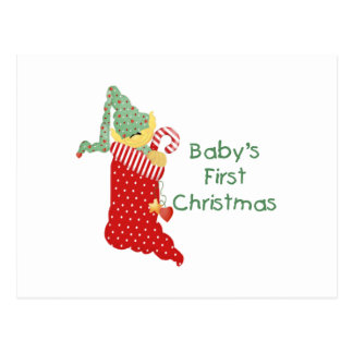 Baby's First Christmas Postcard