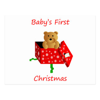 Baby's First Christmas Postcards