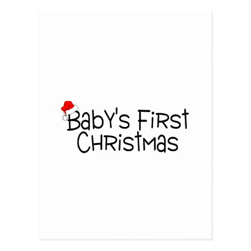 Babys First Christmas Post Cards