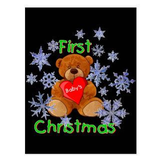 Baby's First Christmas Postcard