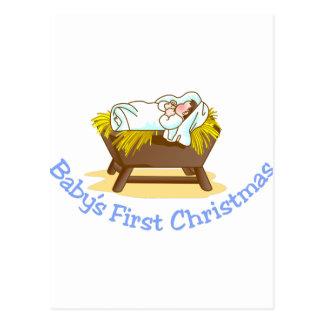 Babys First Christmas Postcard