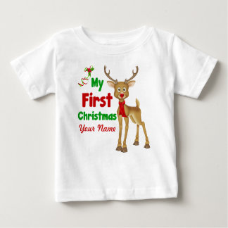 Baby's First Christmas Reindeer Infant T-Shirt