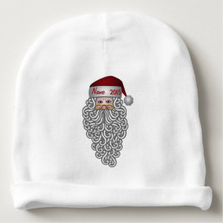 """Baby's First Christmas Santa"" BABY HAT Baby Beanie"