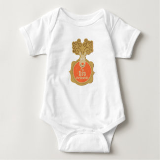 Baby's First Christmas Sleeper Baby Bodysuit