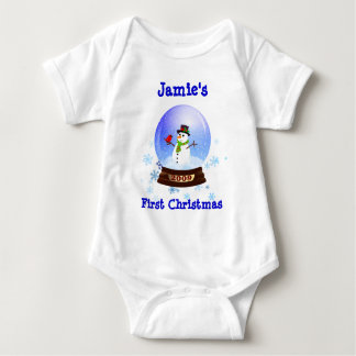 Baby's First Christmas Snowglobe T-shirt