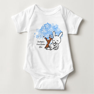 Baby's First Easter Blue Cherry Blossom Baby Bodysuit