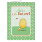 Baby's First Easter Cute Chick With Egg Card