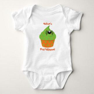 Baby's First Halloween Shirt, Cupcake, Spider Baby Bodysuit