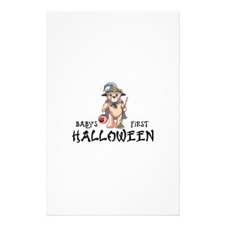 Baby's First Halloween Customized Stationery