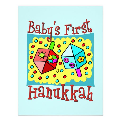 Baby's First Hanukkah Personalized Invitations