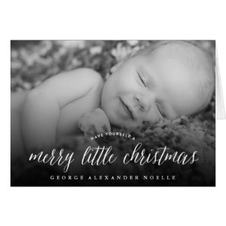 Baby's First Merry Little Christmas Photo Card