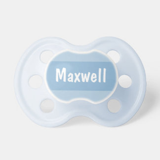 Baby's First Name   Personalized Blue Dummy