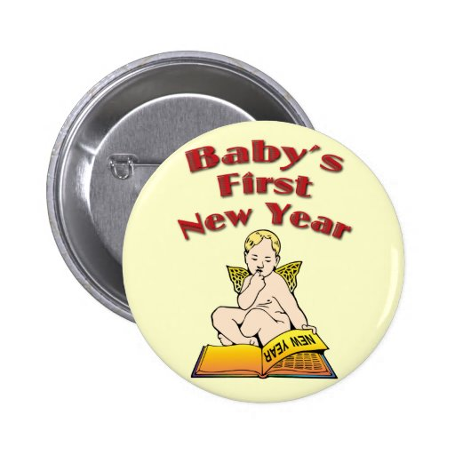 Baby's First New Year Pins