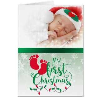 Baby's First Photo Christmas Card