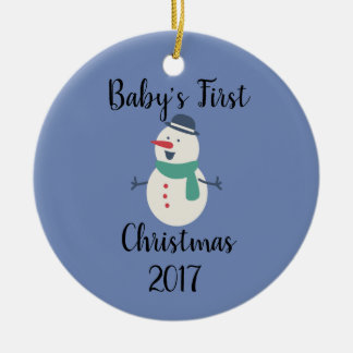 Baby's First Snowman Ornament