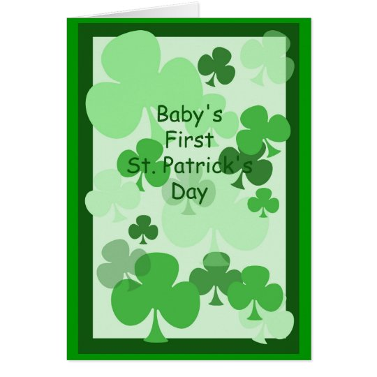 Baby's First St. Patrick's Card