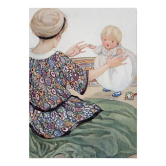 Baby's First Step by Anne Anderson Poster