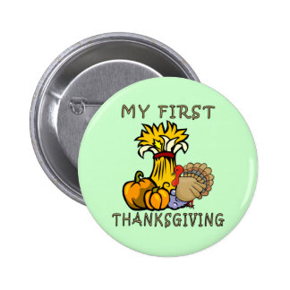 Baby's First Thanksgiving Buttons