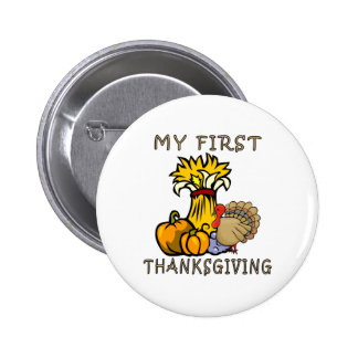 Baby's First Thanksgiving Pinback Buttons