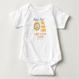 Baby's First Total Solar Eclipse Emoji Moon Baby Bodysuit