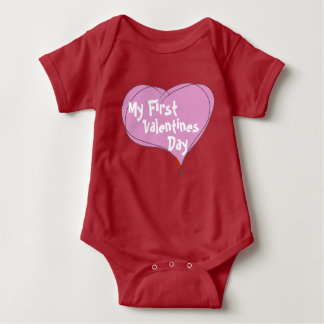 Baby's First Valentines Day Baby Bodysuit