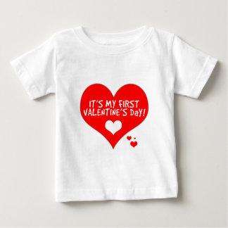 Baby's First Valentine's Day Baby T-Shirt